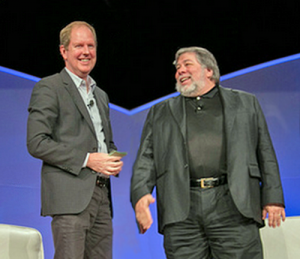 Warren-Berger-and-Steve-Wozniak