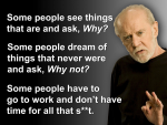 Innovation lessons from George Carlin