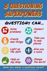 8 Questioning Superpowers poster from BEAUTIFUL QUESTIONS IN THE CLASSROOM